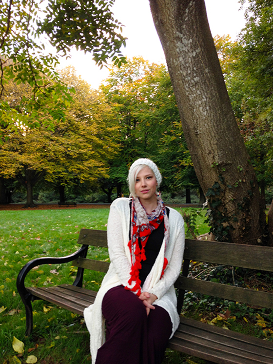 An autumn walk outfit post yellow feather blog