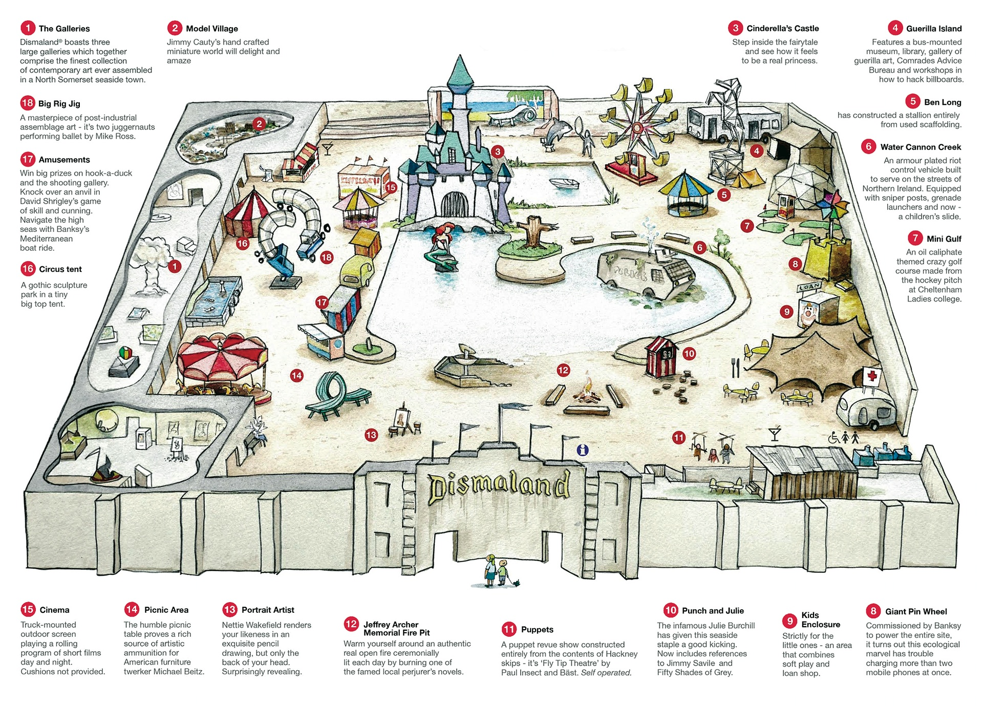 Dismaland map yellow feather blog