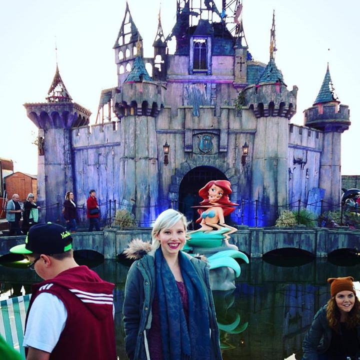 Sarah yellow feather blog dismaland