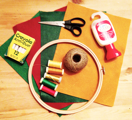 Autumn wreath tutorial equipment you will need - yellow feather blog