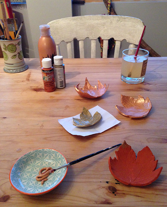 DIY Autumn leaf tea light holder tutorial step 10