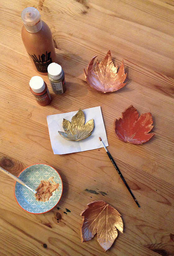 DIY Autumn leaf tea light holder tutorial step 11