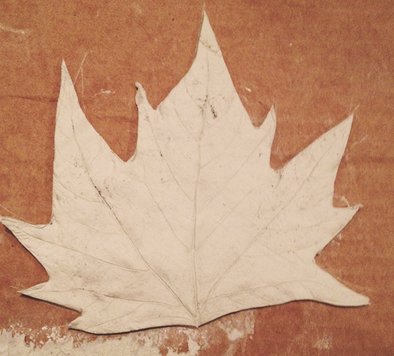 DIY Autumn leaf tea light holder tutorial step 5
