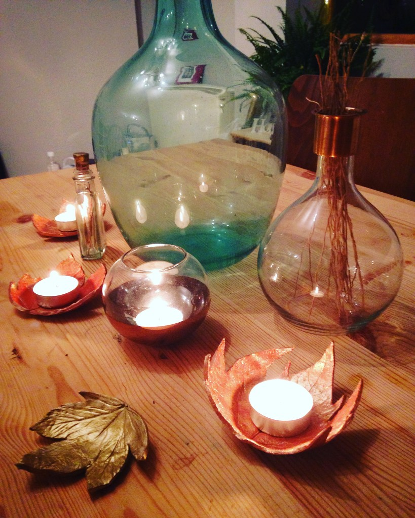 DIY Autumn leaf tea light holders tutorial instagram