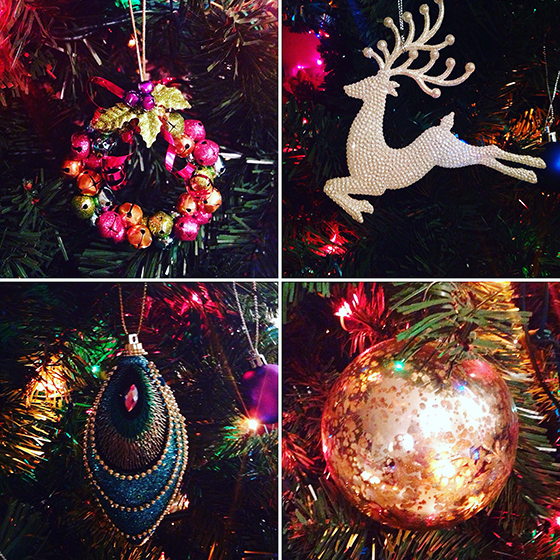 4 of my Christmas baubles Yellow Feather Blog