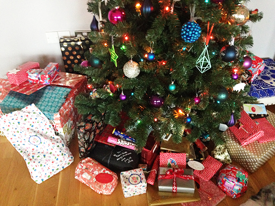 Christmas 2015 presents under the tree