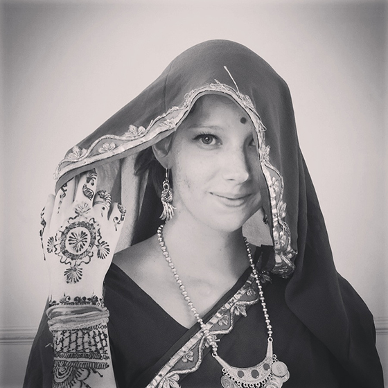 Sari dress up and henna makeover in Jaipur India