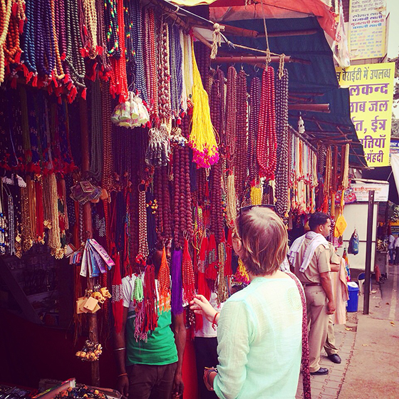 Shopping in the Pushkar bazaars India