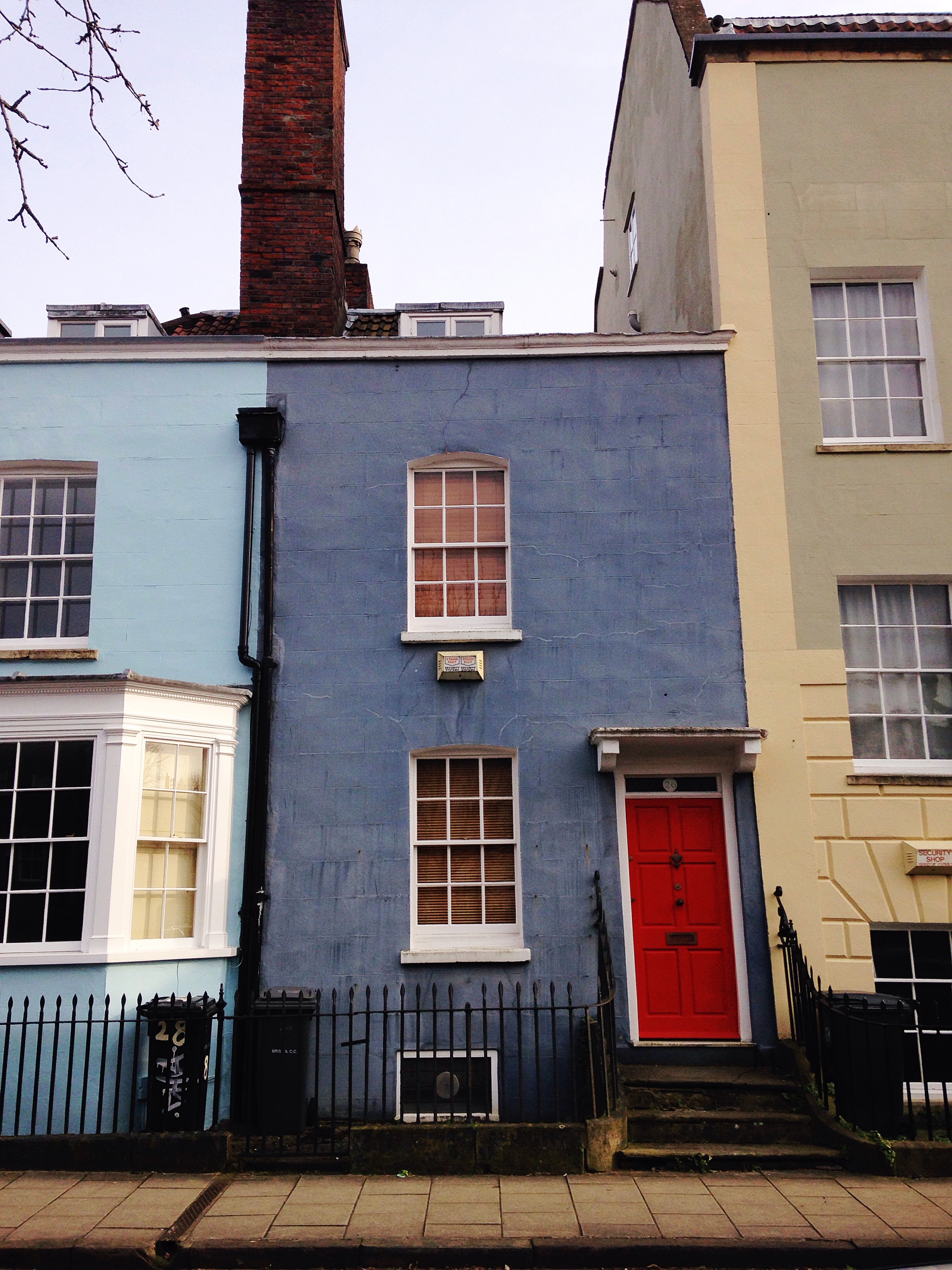 Beautiful Bristol Colourful Painted Houses Yellow Feather