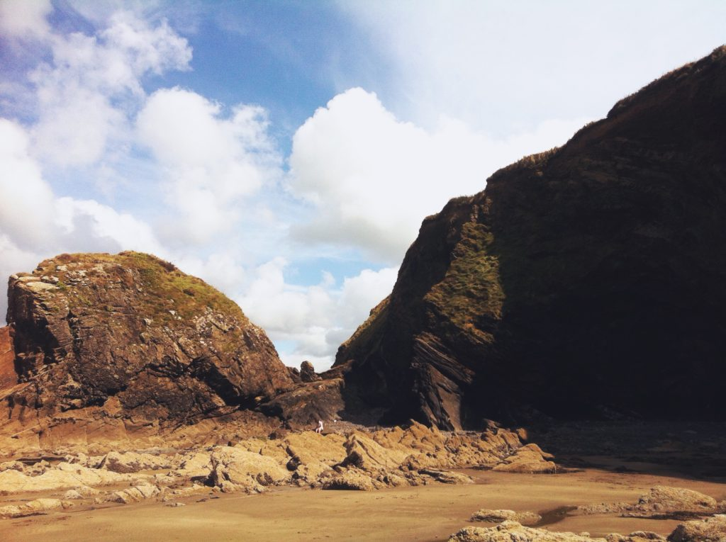Rocks and Cliffs at Broad Haven Beach Pembrokeshire