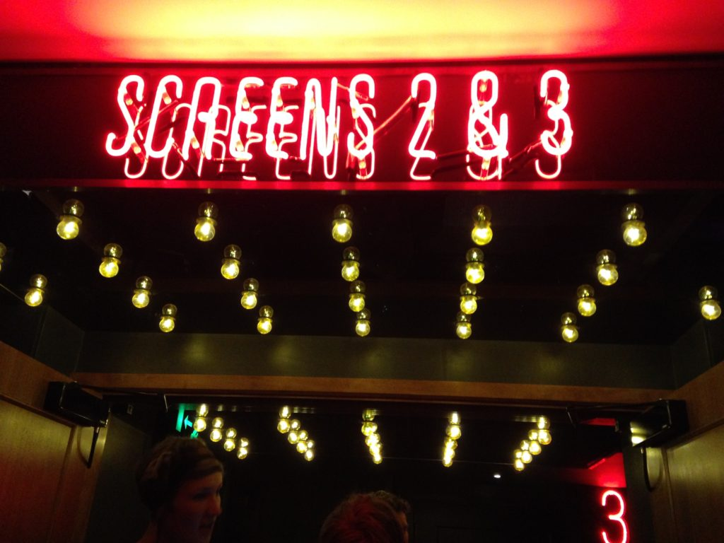 Bristol Everyman Cinema neon screen sign and lightbulbs