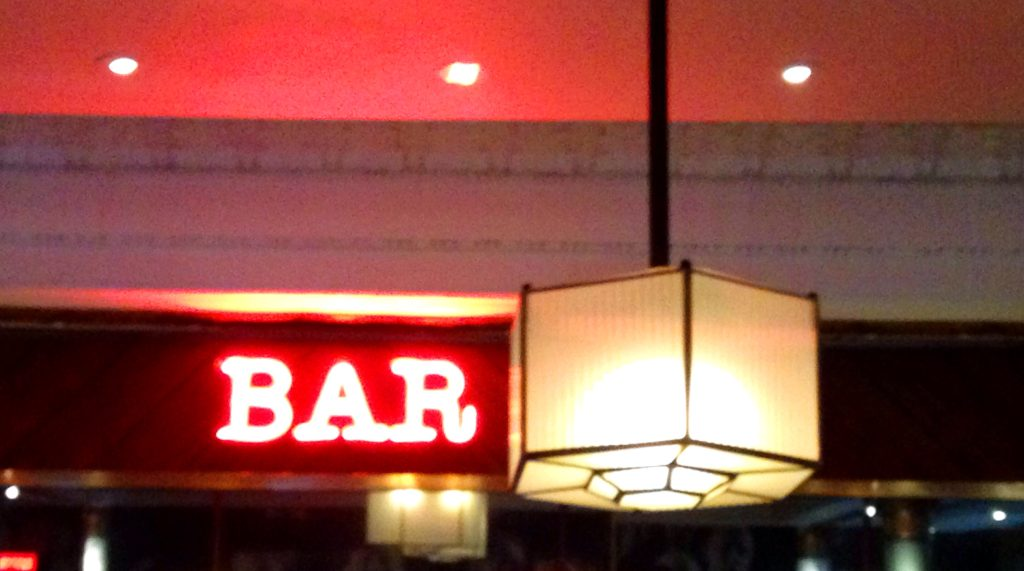 Neon bar sign Everyman Cinema Bristol