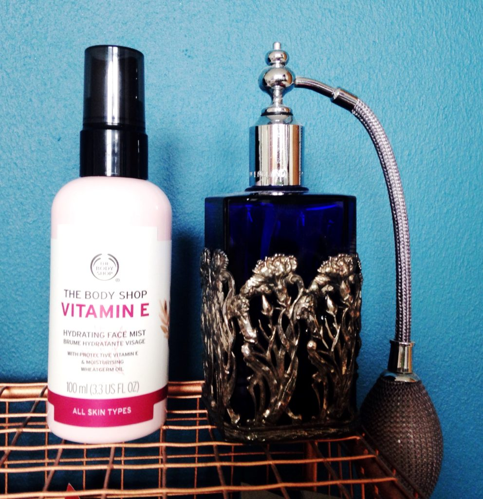 Body Shop Vitamin E mist my skincare routine Yellow Feather blog