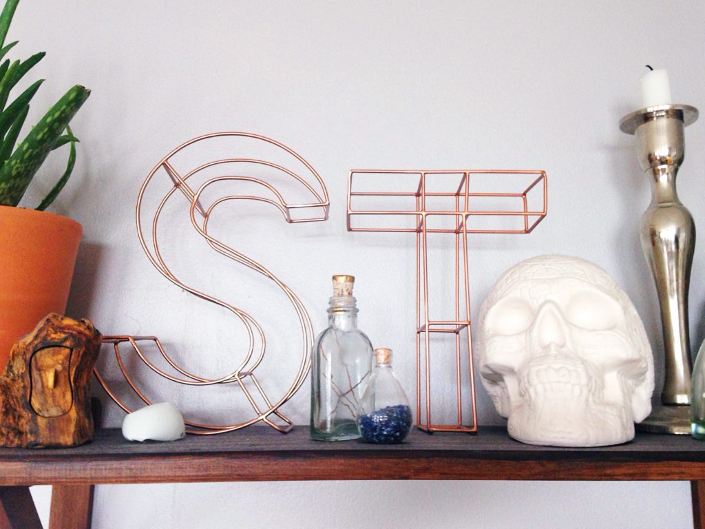 Oliver Bonas copper wire letters