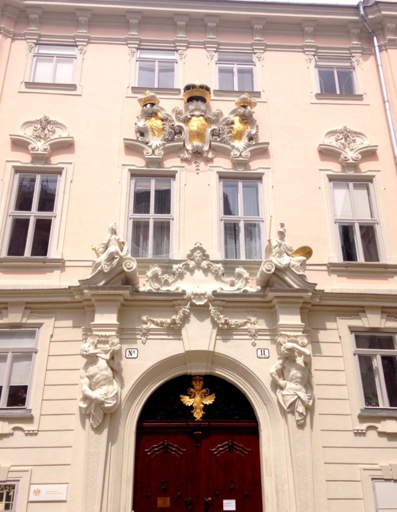 Grand facade in Vienna