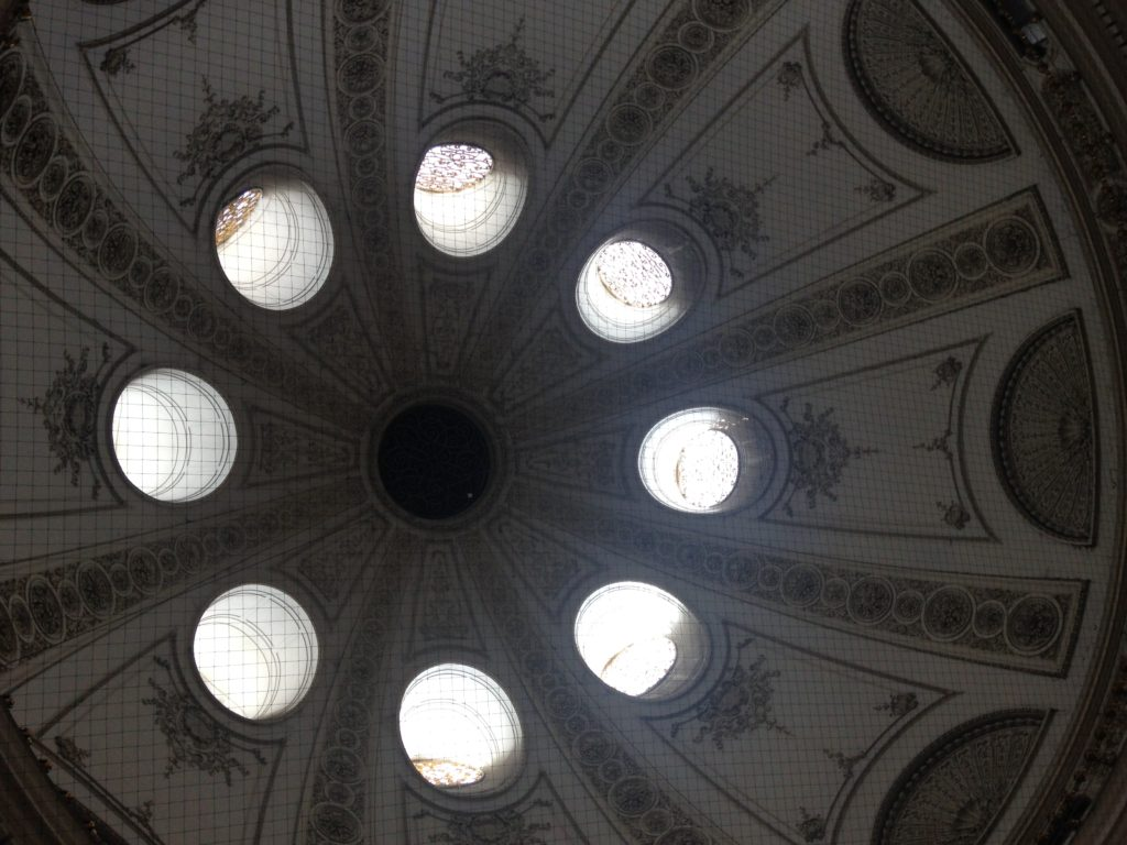 Inside of dome in Vienna Hofburg palace