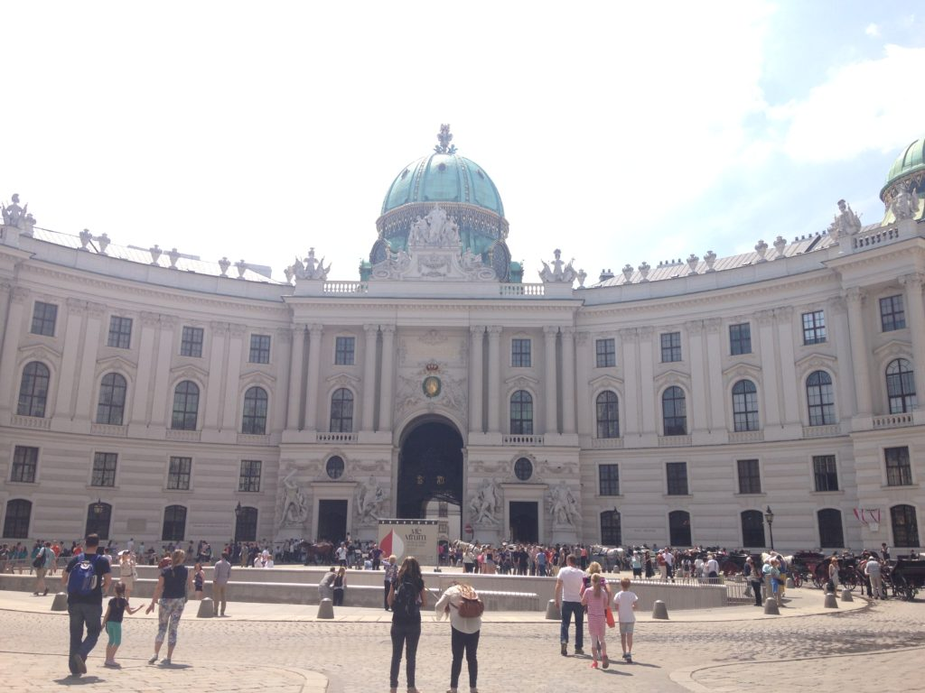 Outside the Vienna Hofburg palace