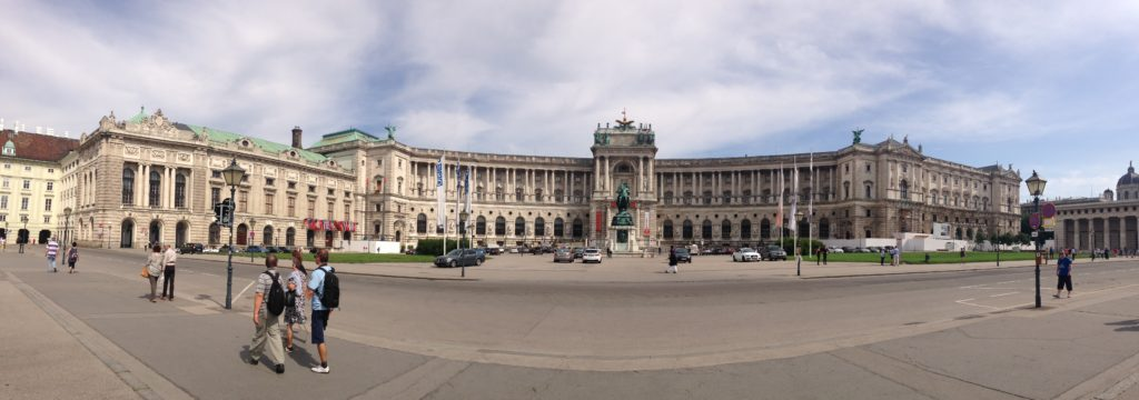 Panorama of the Vienna Hofburg palace complex