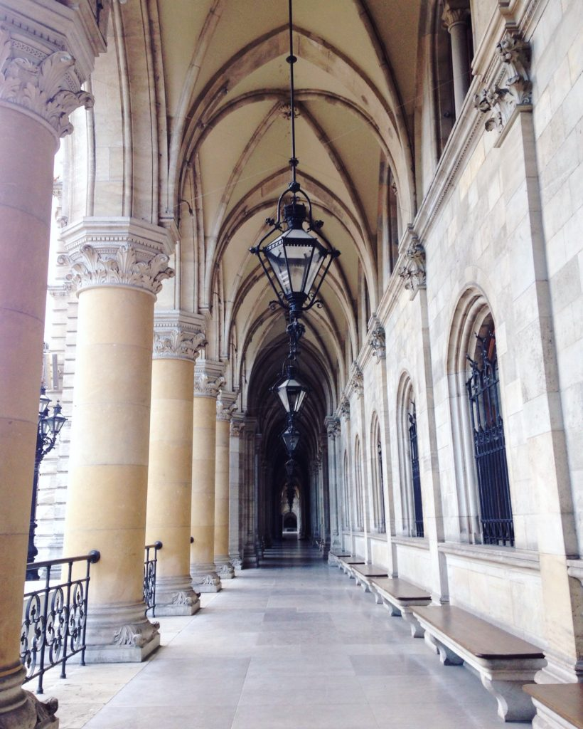 Vaulted corridors in the Vienna City Hall