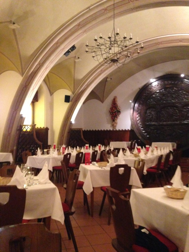 Vaulted restaurant under Vienna City Hall