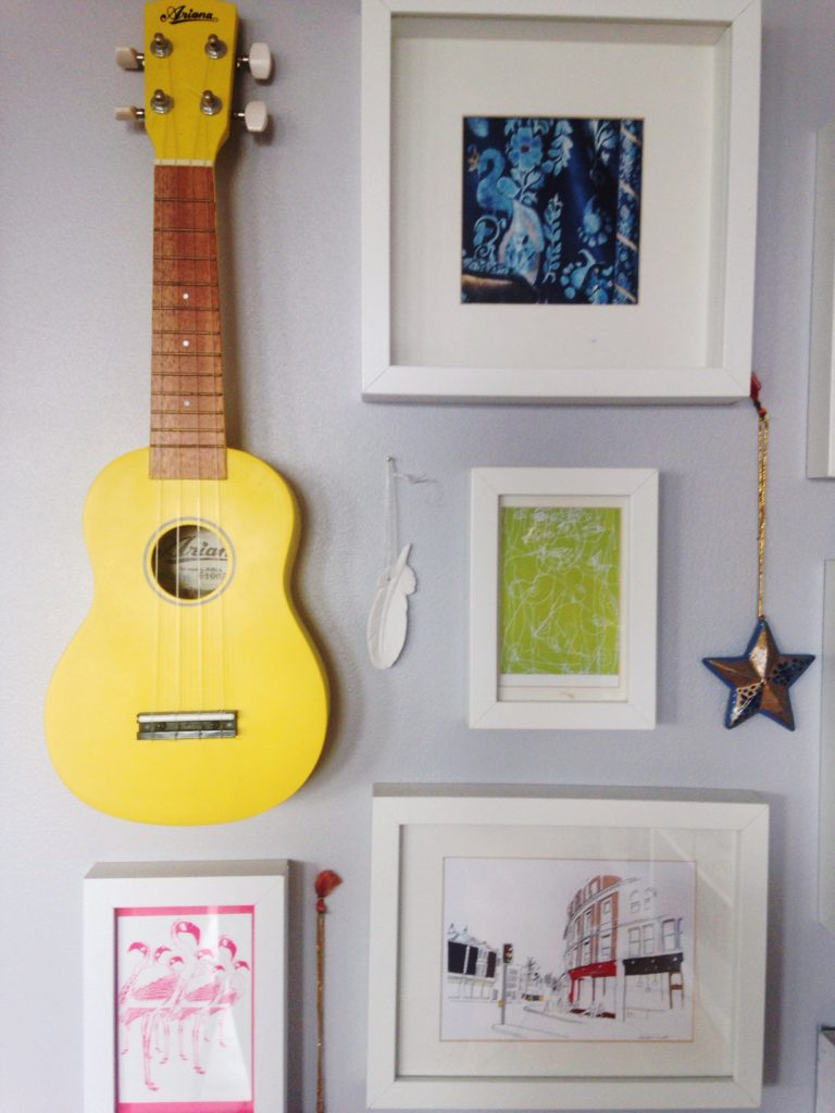 Gallery Wall with local Bristol themed artwork from Yellow Feather Blog