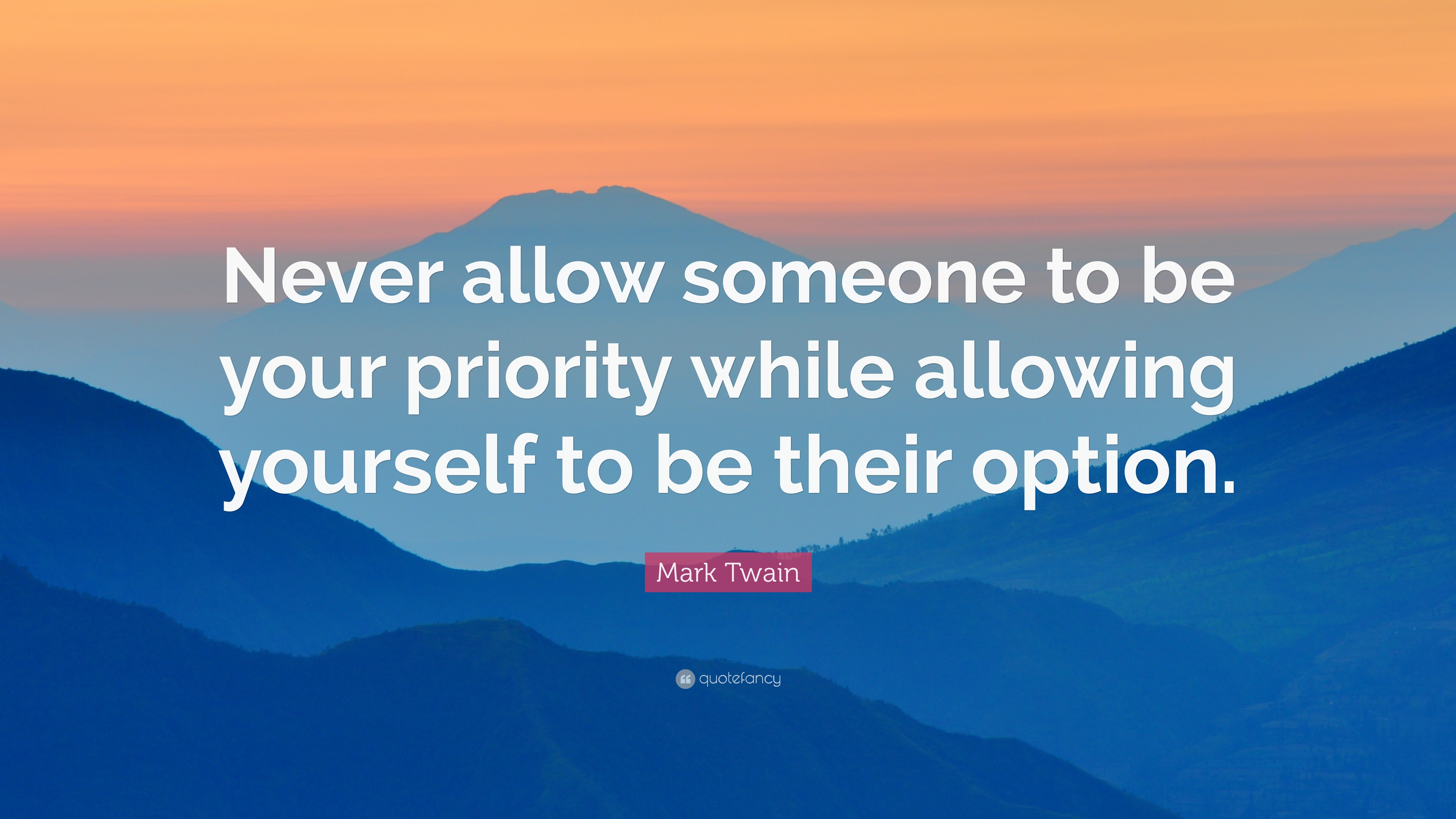 Never allow someone to be your priority while allowing yourself to be their option quote artwork 5 ways to deal with a breakup