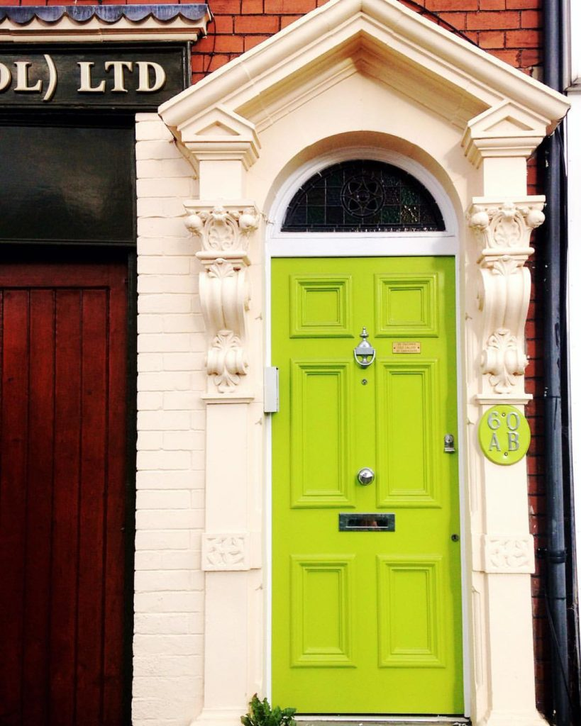 bright-green-bristol-door