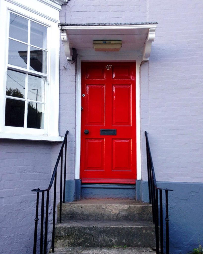 bright-red-bristol-door-st-michaels-hill