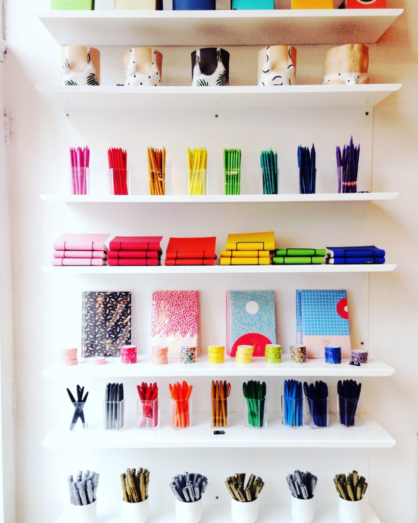 #2016BestNine instagrams colourful stationery display at Papersmiths Bristol Yellow Feather blog