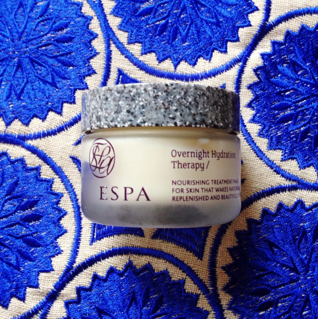 ESPA overnight hydration therapy cream review - current skincare products I'm loving - yellow feather blog