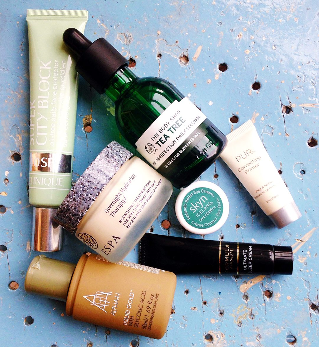 Overview of the current skincare products I'm loving - yellow feather blog