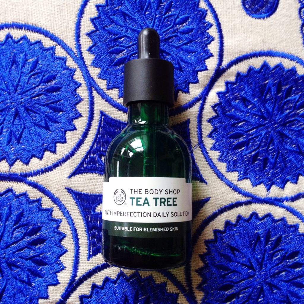 The Body Shop Tea Tree daily solution - current skincare products I'm loving - yellow feather blog