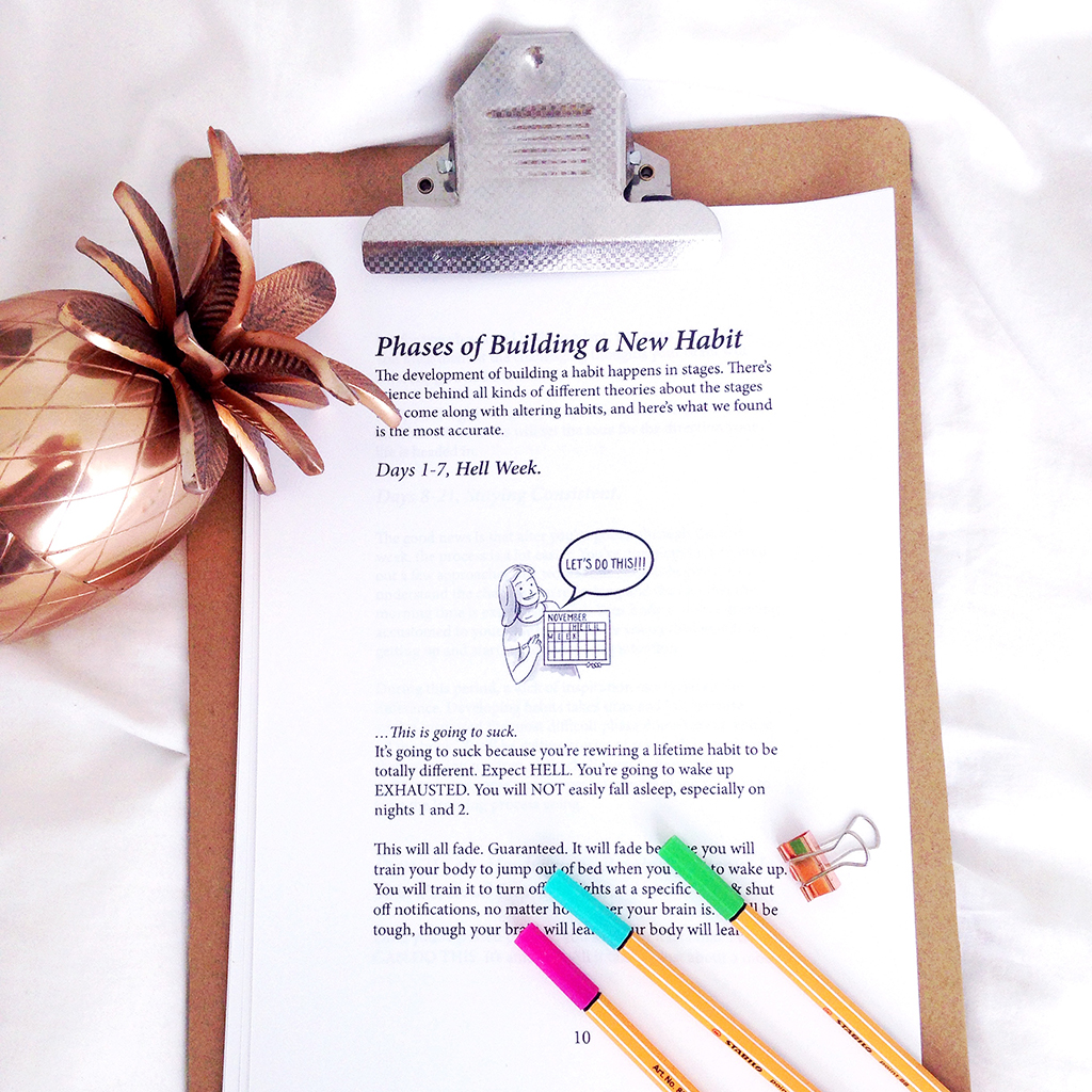 Building new habits with the morning sidekick journal Yellow Feather Blog review