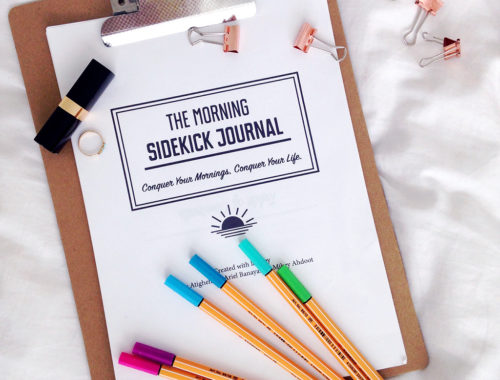 Conquering mornings with the morning sidekick journal review from yellow feather blog