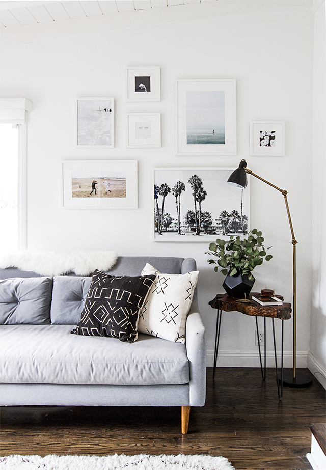 White framed gallery wall