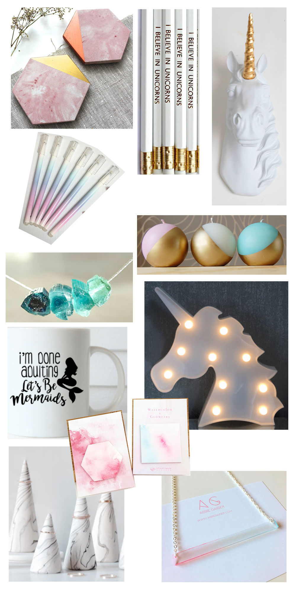 Gift Guide Mermaid Unicorn Lover