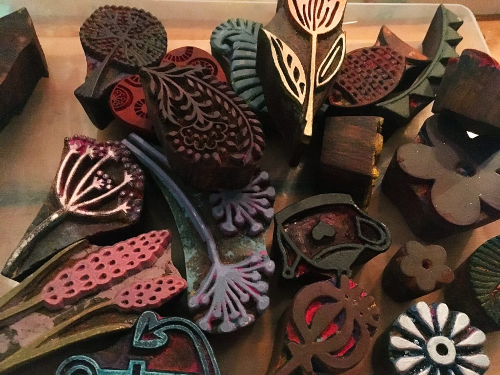 Indian wooden carved stamps - The Handmade Fair Bristol PR launch Yellow Feather Blog