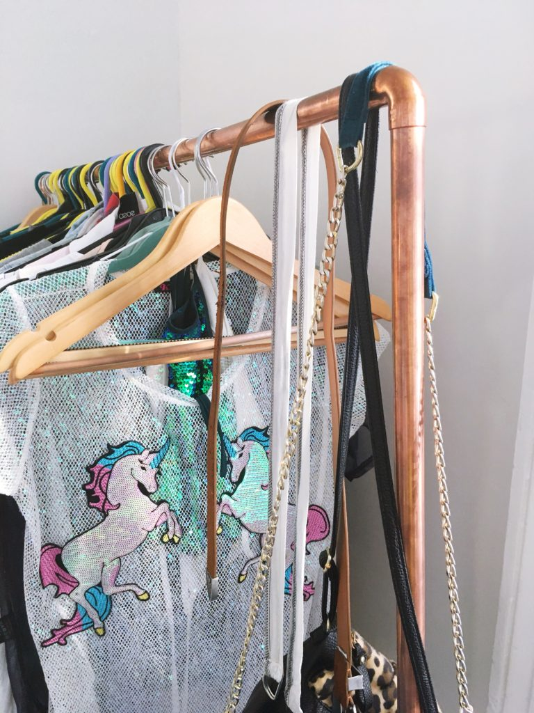 DIY-copper-clothes-rail-yellow-feather-blog-bedroom-tour
