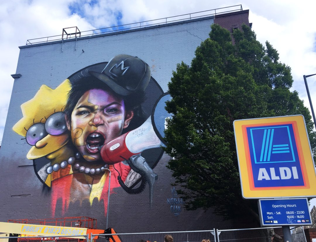 Upfest 2018 yellow feather blog nomad clan be more lisa