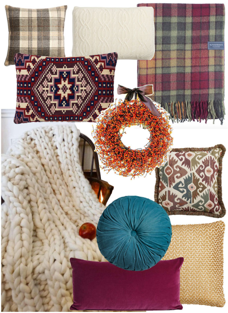 Autumn cushions mood board