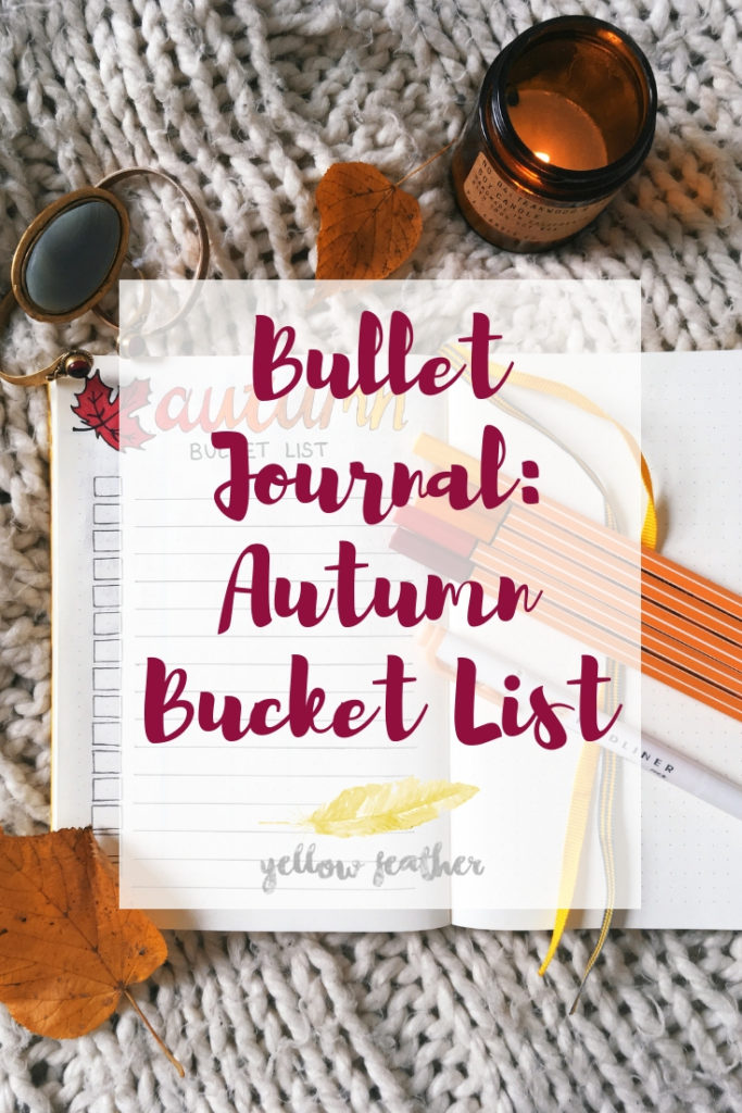 Bullet Journal Autumn Bucket List