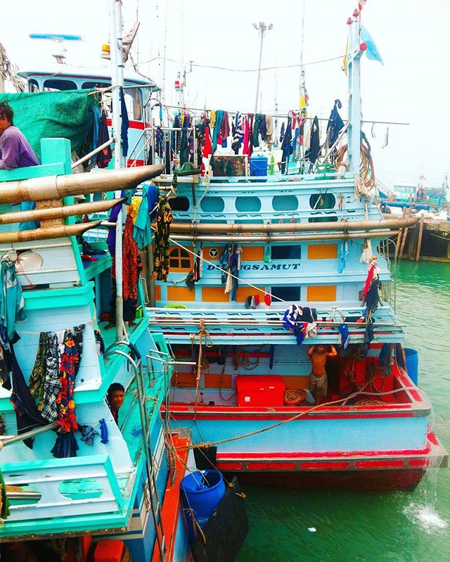 Colourful Thai Fishing Boats Yellow Feather Blog Travel Tuesday Instagrammable locations