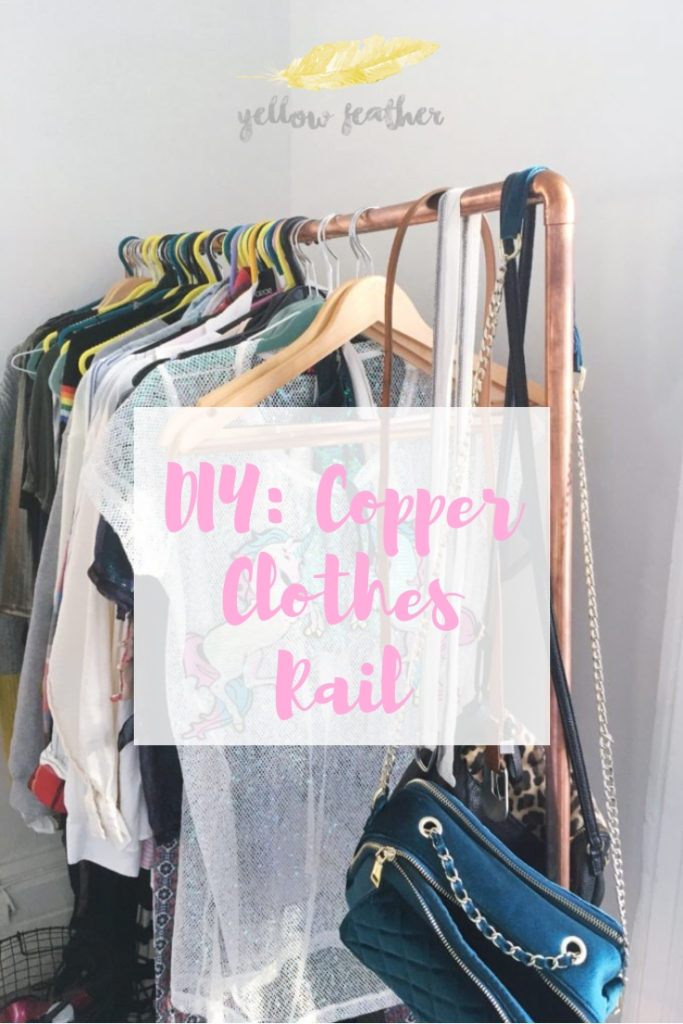 DIY Copper Clothes Rail