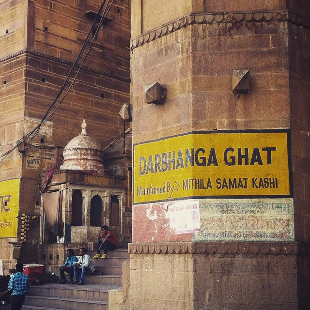 Darbhanga Ghat Varanasi India Yellow Feather Blog Travel Tuesday Instagrammable locations