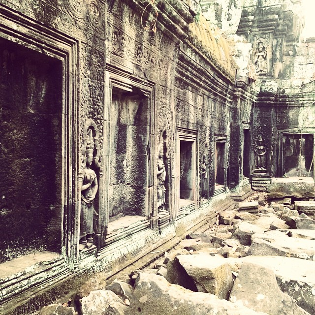 Ta Prohm tree temple Angkor Wat Cambodia Yellow Feather blog travel tuesday instagrammable locations