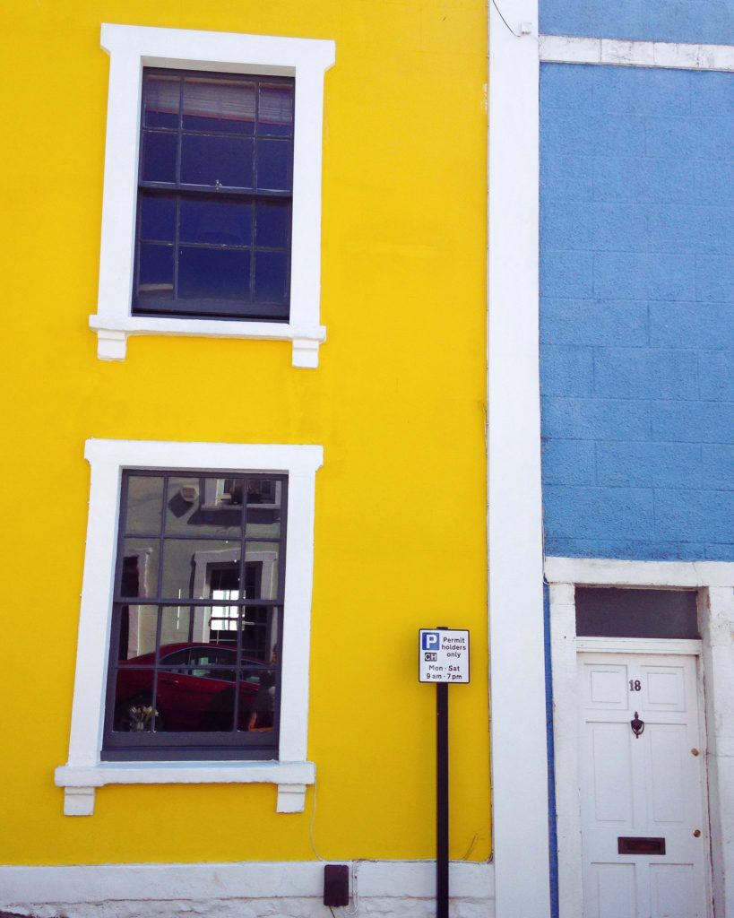 yellow painted house colourful cliftonwood yellow feather blog