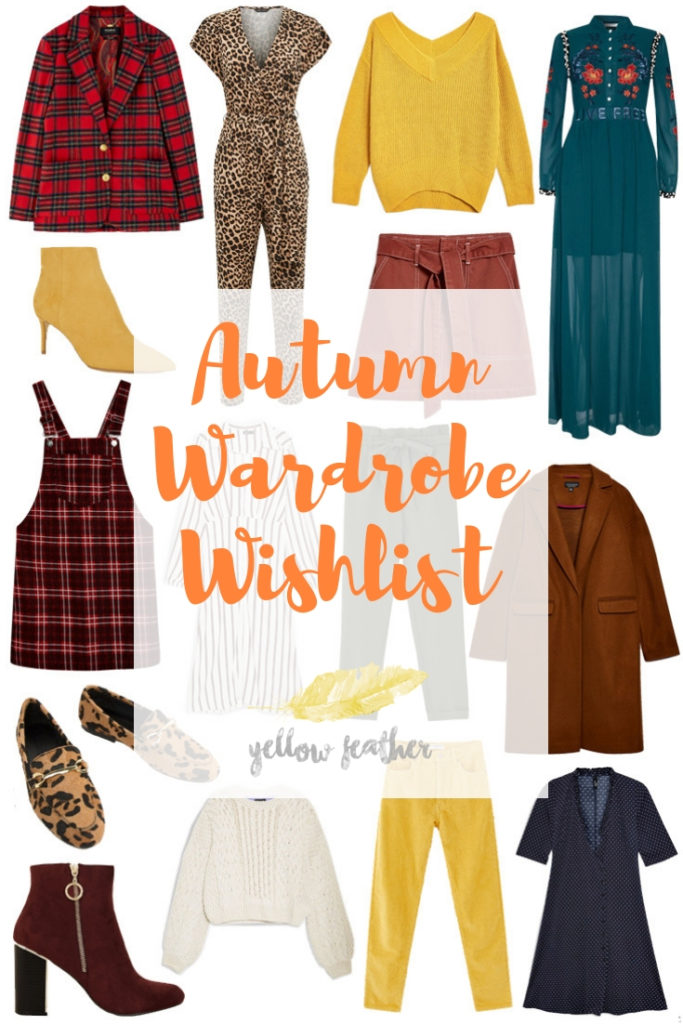 Autumn Wardrobe Wishlist 1