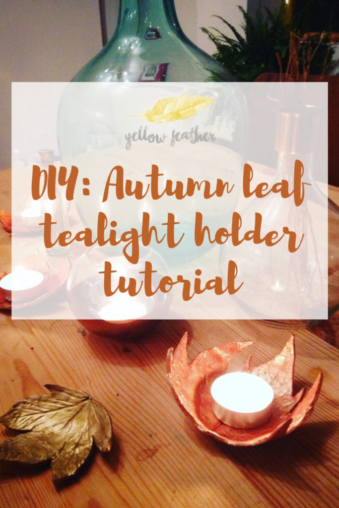 DIY Autumn leaf tealight holder tutorial 1
