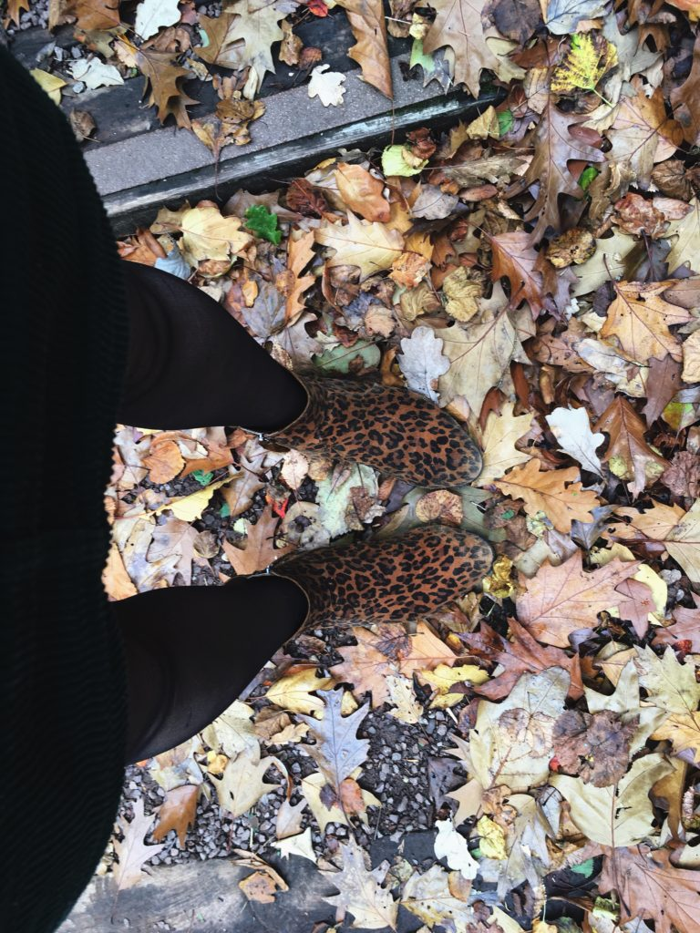 feet selfie in autumn leaves bristol botanic gardens yellow feather blog