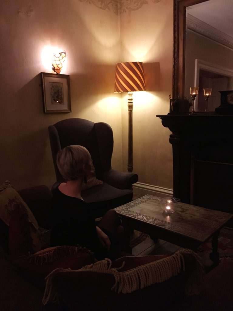 enjoying lounge yellow feather blog charlton house hotel spa